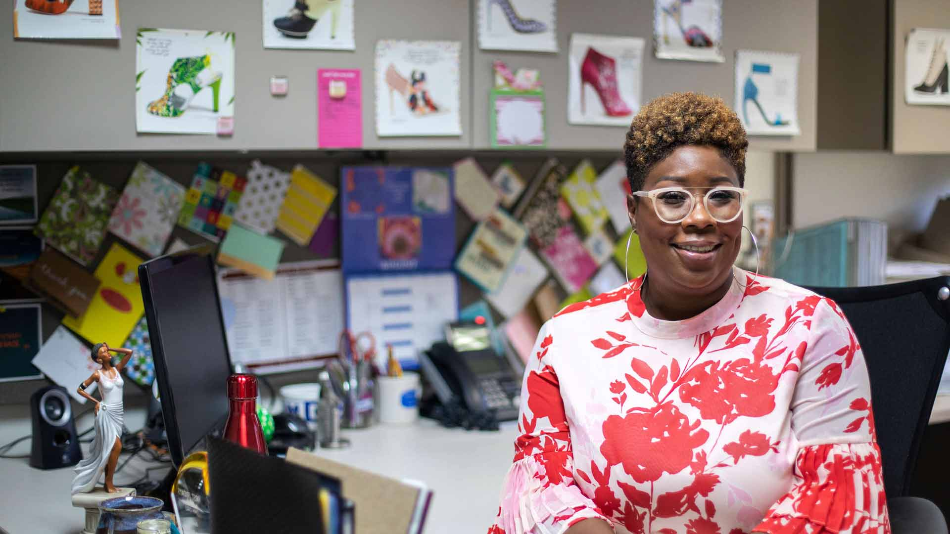 Portrait of principal Latanya Daniels in her office at Richfield High School.