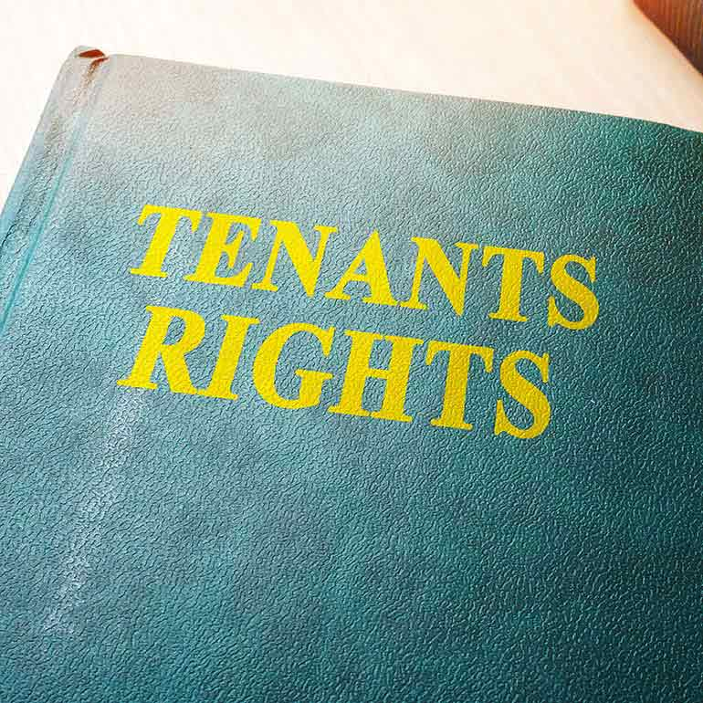 "Book with title ""Tenants Rights"""