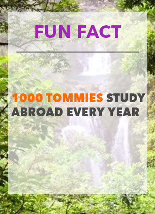 Fun Fact- 1000 Tommies Study Abroad Every Year