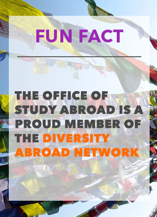Fun Fact- The Office of Study Abroad is a Proud Member of The Diversity Abroad Network